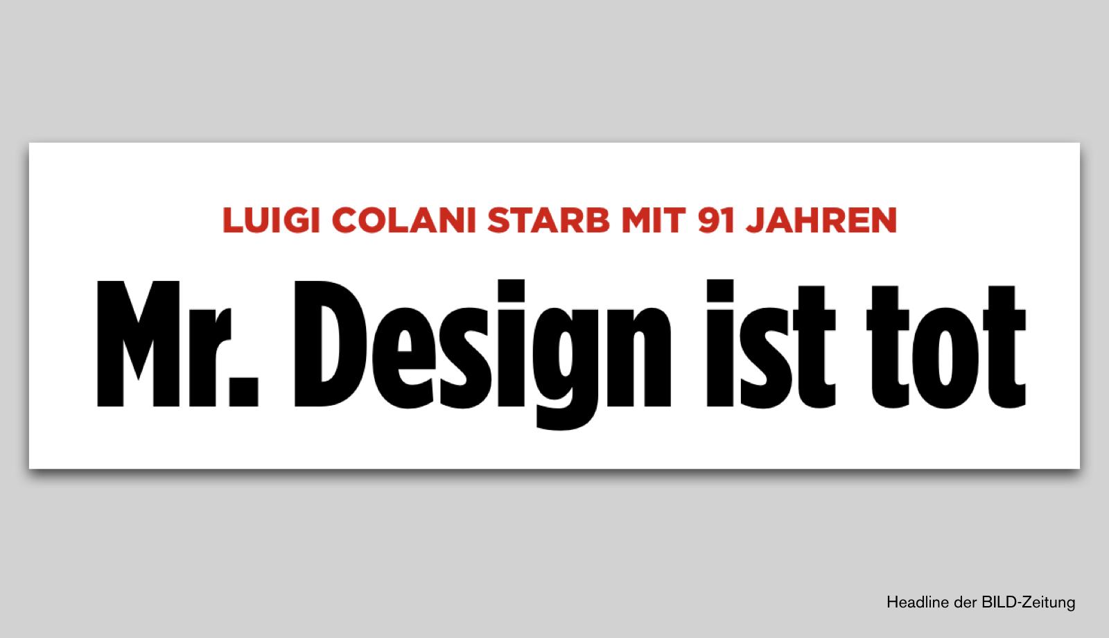 Nachruf auf Luigi Colani (2)