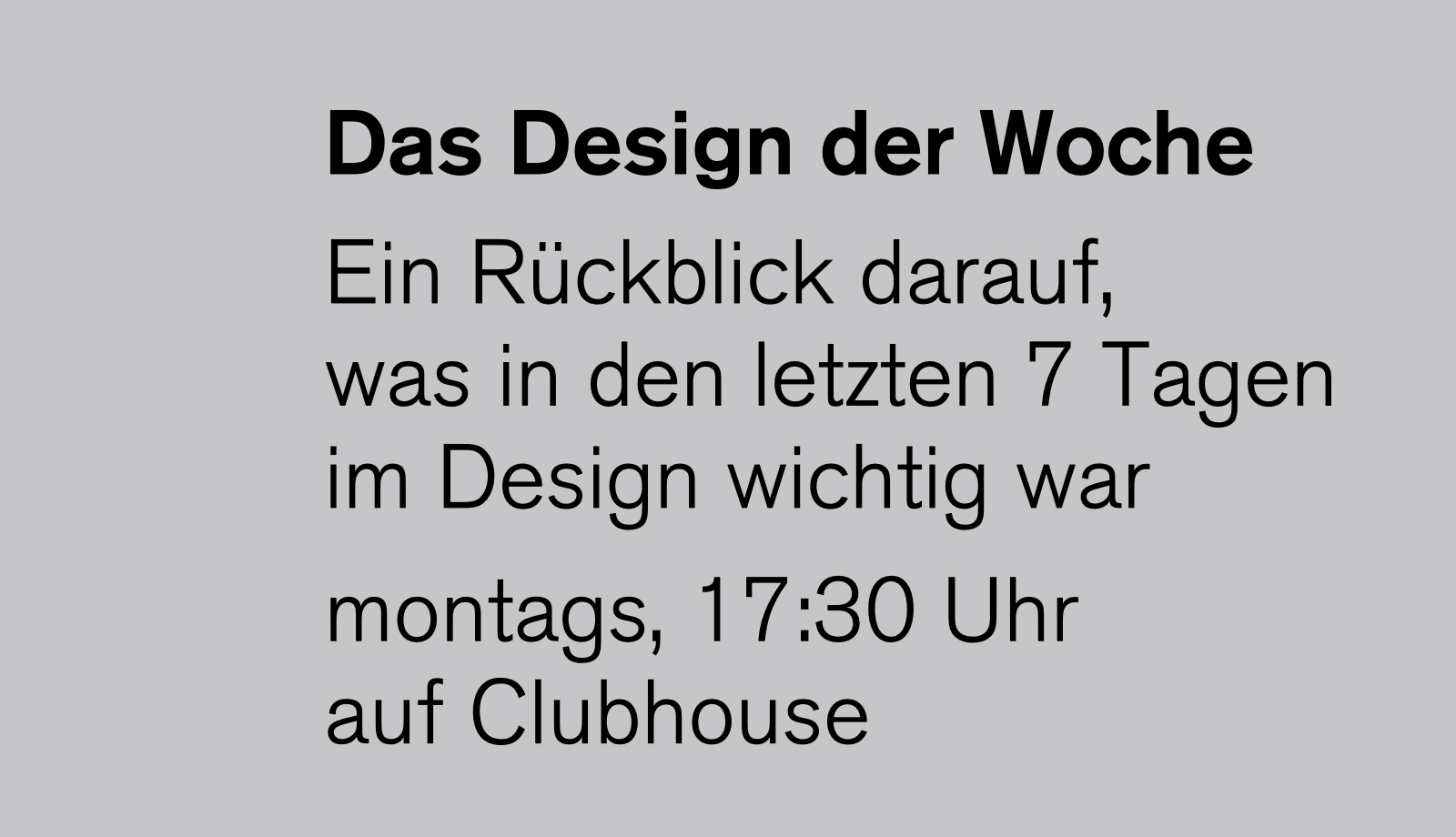 Designkritik_ReneSpitz_Das-Design-der-Woche-auf-Clubhouse