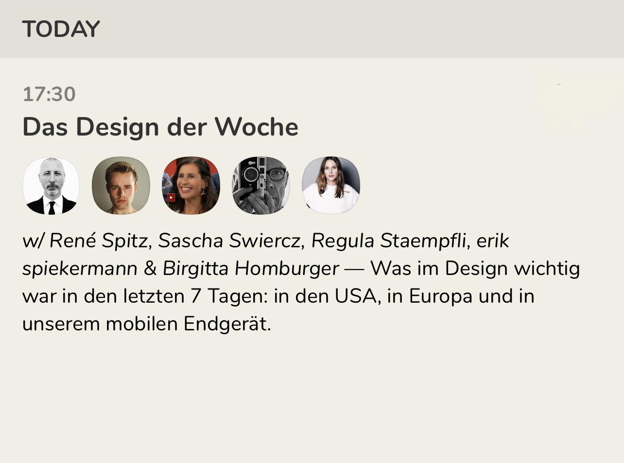 Das Design der Woche